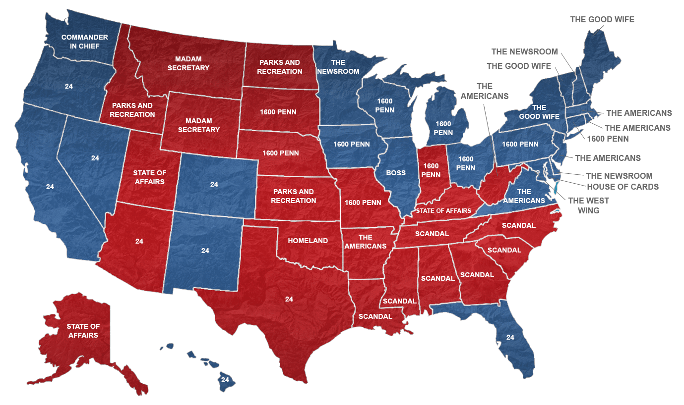 Your State S Favorite Political Tv Show Map