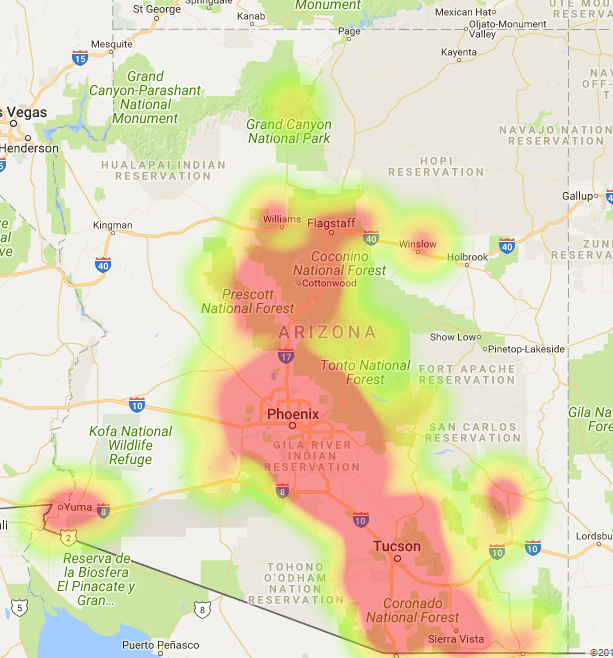 Arizona Coverage Map