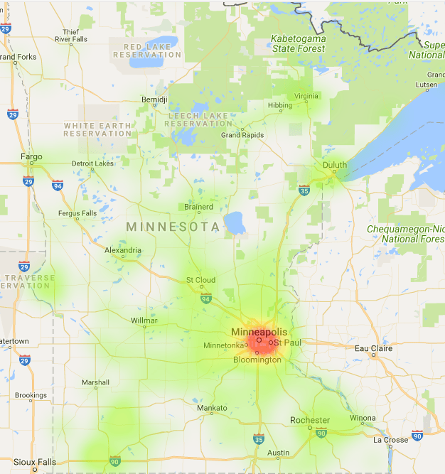 Minnesota Coverage Map