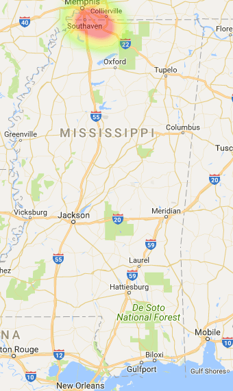 Mississippi Coverage Map