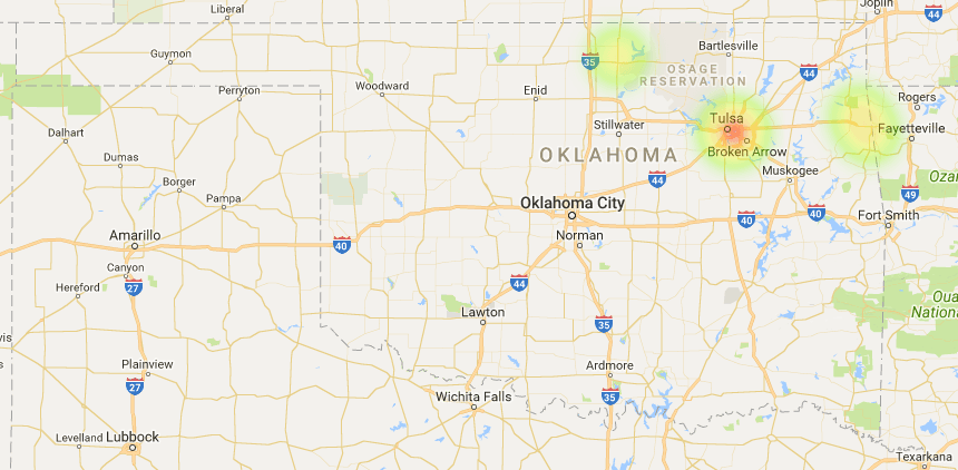 Oklahoma Coverage Map