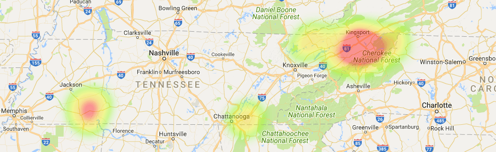 Tennessee Coverage Map