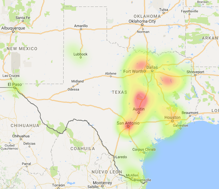 Texas Coverage Map