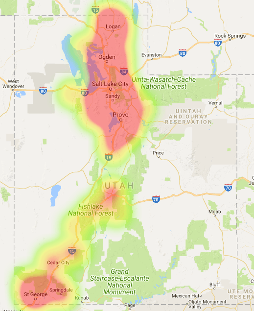 Utah Coverage Map