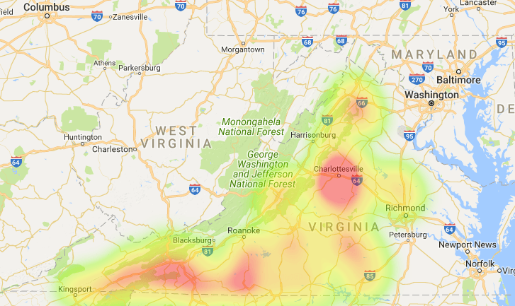 Virginia Coverage Map