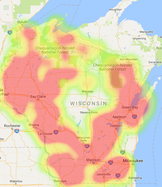 Wisconsin Coverage Map