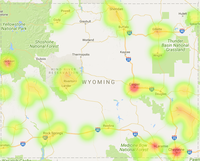 Wyoming Coverage Map