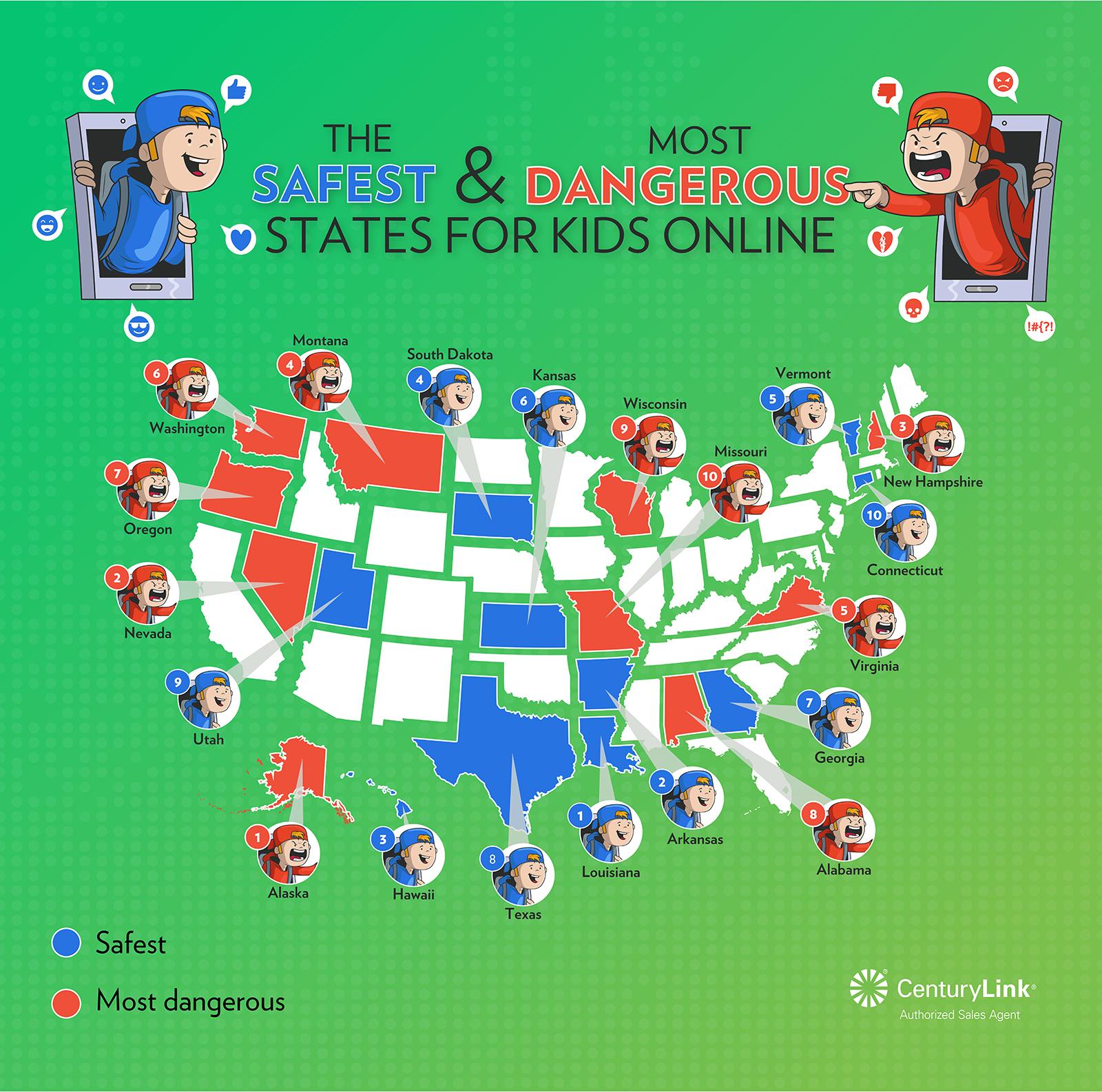 Safest States For Kids Online